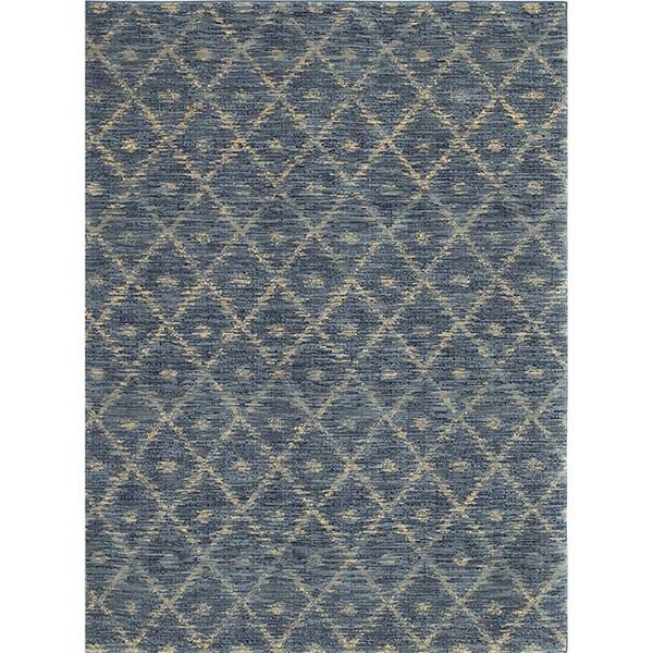 Mohawk Home Rug Indigo: Karastan Woven Impressions Diamond Ikat Indigo Rug (8' X