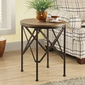 Bronze Veneer Top 20-Inch Accent Table