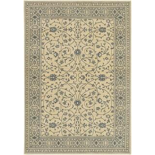 Karastan English Manor Somerset Lane Ivory/Blue Rug (3'8 x 5')