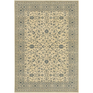 Karastan English Manor Somerset Lane Ivory/Blue Rug (8'6 x 11'6)