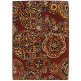 Karastan English Manor Chesterfield Red Rug (8'6 x 11'6)
