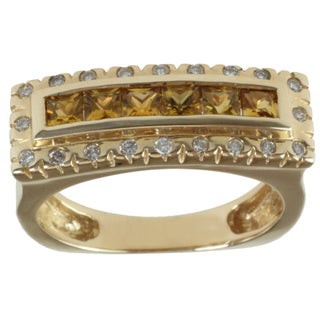 Michael Valitutti 14k Yellow Gold Savannah Tourmaline and Diamond Ring