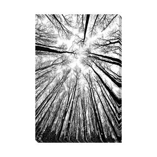 B&W Tree Silhouettes Oversized Gallery Wrapped Canvas