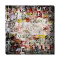 Grunge Text II Oversized Gallery Wrapped Canvas