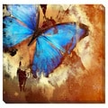 Fresco Butterfly Oversized Gallery Wrapped Canvas