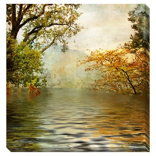 Golden Lake Oversized Gallery Wrapped Canvas