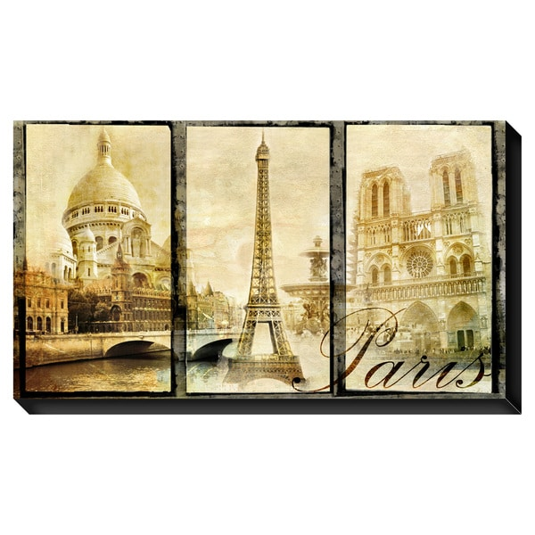 Vintage Paris Oversized Gallery Wrapped Canvas
