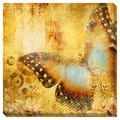 Golden Abstraction in Flight Oversized Gallery Wrapped Canvas