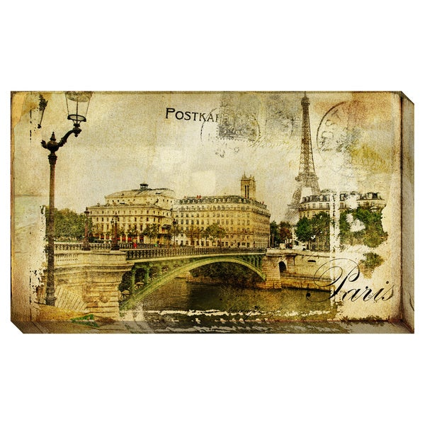 Memories of Paris Oversized Gallery Wrapped Canvas