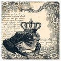 Frog Prince I Oversized Gallery Wrapped Canvas
