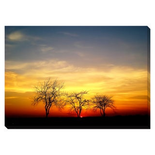 Midwestern Sunset Oversized Gallery Wrapped Canvas