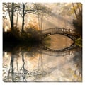 Bridge Reflection Oversized Gallery Wrapped Canvas