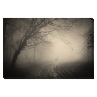 Deer in the Forest Oversized Gallery Wrapped Canvas