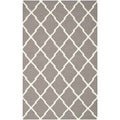 Safavieh Handwoven Moroccan Dhurrie Transitional Dark Gray Wool Rug (6' x 9')