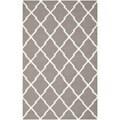 Safavieh Hand-woven Moroccan Dhurrie Dark Grey Wool Rug (8' x 10')