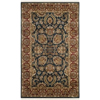 Safavieh Hand-knotted Dynasty Navy/ Red Wool Rug (6' x 9')