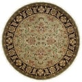 Hand-knotted Dynasty Green/ Black Wool Rug (6' Round)