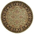 Hand-knotted Dynasty Green/ Black Wool Rug (8' Round)