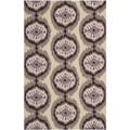 Safavieh Hand-hooked Indoor/Outdoor Four Seasons Beige/ Purple Rug (3'6 x 5'6)