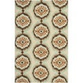 Safavieh Hand-hooked Indoor/Outdoor Four Seasons Beige/ Green Rug (5' x 8')