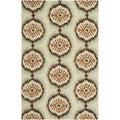 Safavieh Hand-hooked Indoor/Outdoor Four Seasons Beige/ Green Rug (8' x 10')