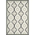 Safavieh Hand-made Chelsea Ivory/ Black Wool Rug (6' x 9')