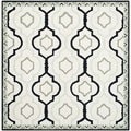 Safavieh Hand-made Chelsea Ivory/ Black Wool Rug (6' Square)