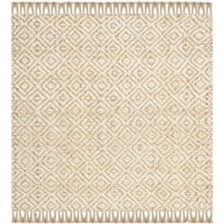 Safavieh Hand-woven Sisal Style Natural/ Ivory Jute Rug (6' x 6' Square)
