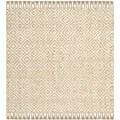 Safavieh Hand-woven Sisal Style Natural/ Ivory Jute Rug (6' x 6' Square)