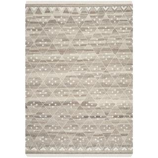 Safavieh Hand-woven Natural Kilim Natural/ Ivory Wool Rug (4' x 6')