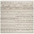 Safavieh Hand-woven Natural Kilim Natural/ Ivory Wool Rug (7' Square)