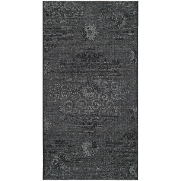 Safavieh Palazzo Black/ Grey Polypropylene/ Over-d