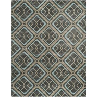 Safavieh Hand-made Soho Grey Wool Rug (7'6 x 9'6)