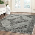 Safavieh Vintage Light Blue Viscose Rug (6'7 x 9'2)