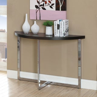 Cappuccino Chrome Sofa Console Table