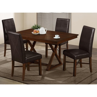 Modern Oak Veneer Dining Table