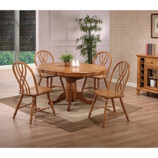 Whitaker Furniture Missouri Oak Round Dining Set