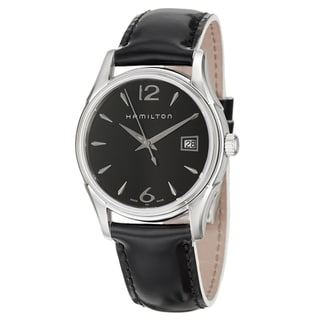 Hamilton Women's 'Jazzmaster' Black Dial Swiss Quartz Watch