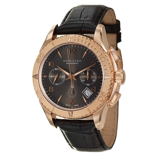 Hamilton Men's 'Jazzmaster' Rose-goldplated Chronograph Watch