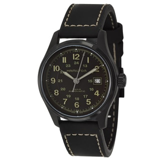Hamilton Men's 'Khaki Field' Stainless Steel Gunmetal PVD Military Time Watch