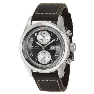 Hamilton Men's 'Khaki Field' Stainless Steel Chronograph Watch