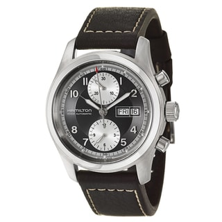 Hamilton Men's 'Khaki Field' Stainless Steel Water Resistant Chronograph Watch