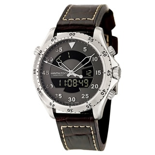Hamilton Men's 'Khaki Aviation' Stainless Steel Digital Chronograph Watch