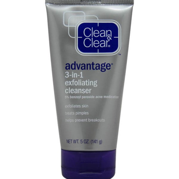 Clean & Clear Advantage 3-in-1 Exfoliating 5-ounce Cleanser