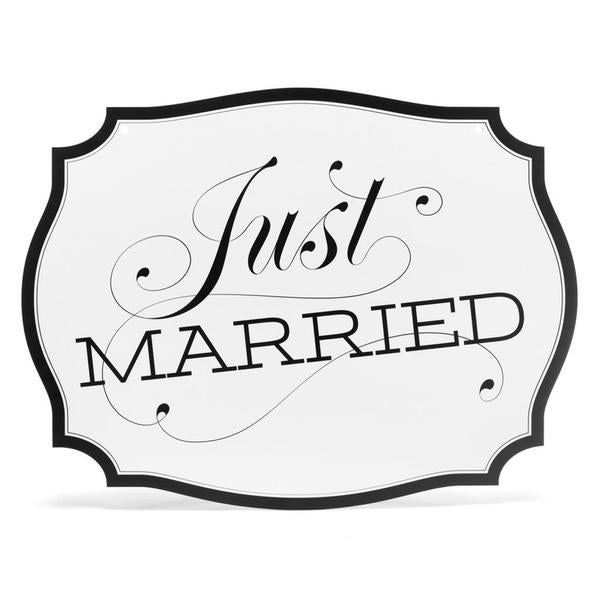 Hortense B. Hewitt Just Married Car Sign