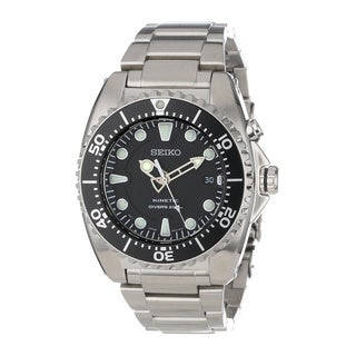 Seiko Men's Kinetic Silver Stainless Steel Automatic Watch