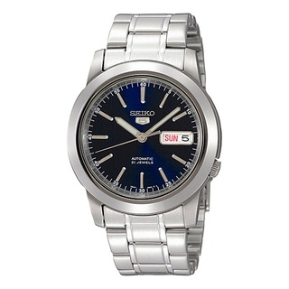 Seiko Men's SNKE51K Automatic Silver Stainless Steel Blue Dial Automatic Watch
