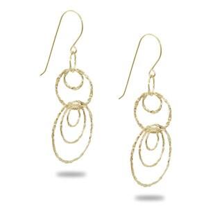 Gioelli 14k Yellow Gold Graduated Circles Drop Earrings
