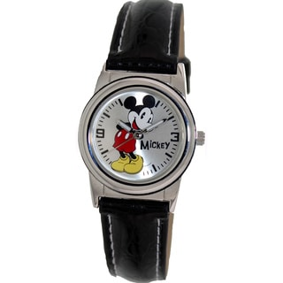 Disney Women's Black Strap 'Mickey' Watch