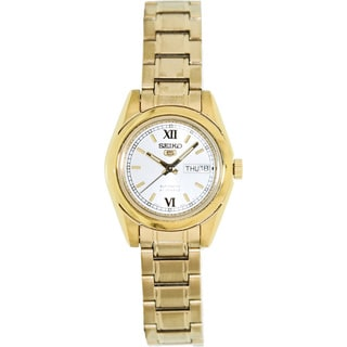 Seiko Women's '5 Automatic' Goldtone Stainless Steel Automatic Watch